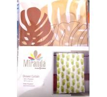 """Штора в ванную """"Миранда""""  CT-0041 PLANT листок беж"""